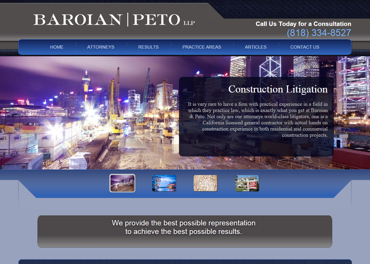 Baroian and Peto Law Firm Website