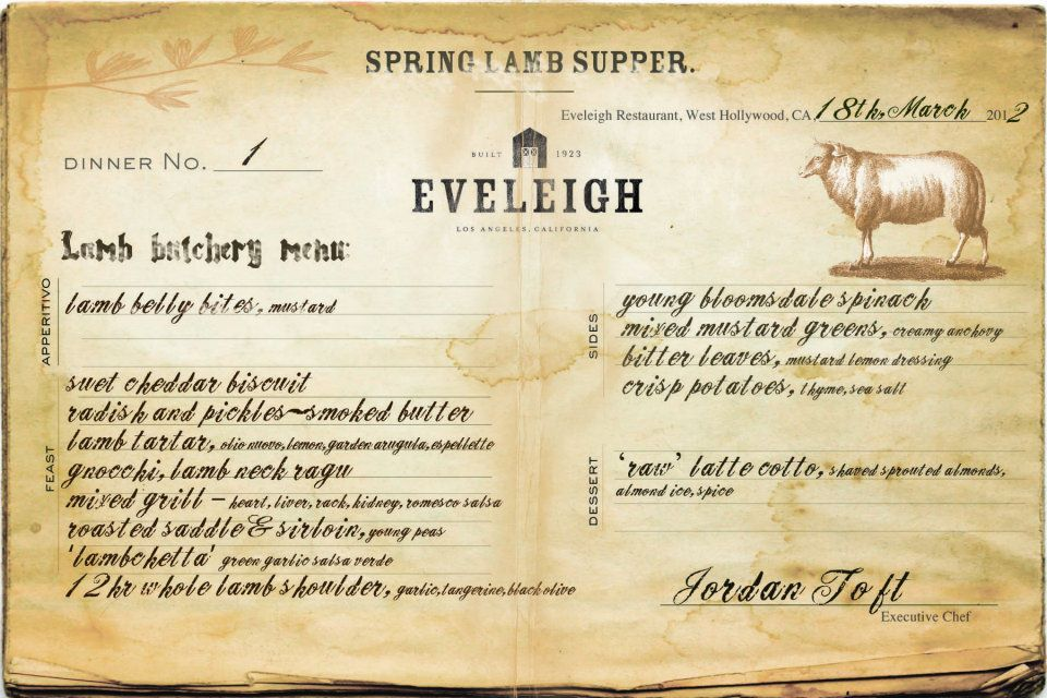 Eveleigh Sunday Supper Invite